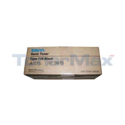 SAVIN 3725 3750 TYPE 116 TONER BLACK